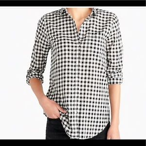 J. Crew Blue and white classic button down